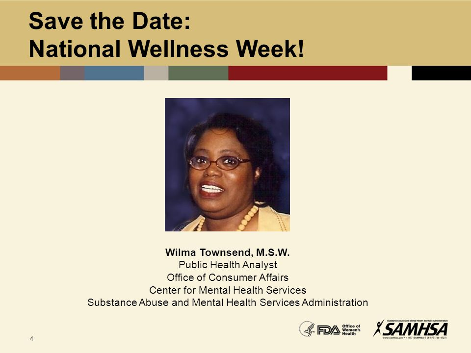 Save the Date: National Wellness Week!