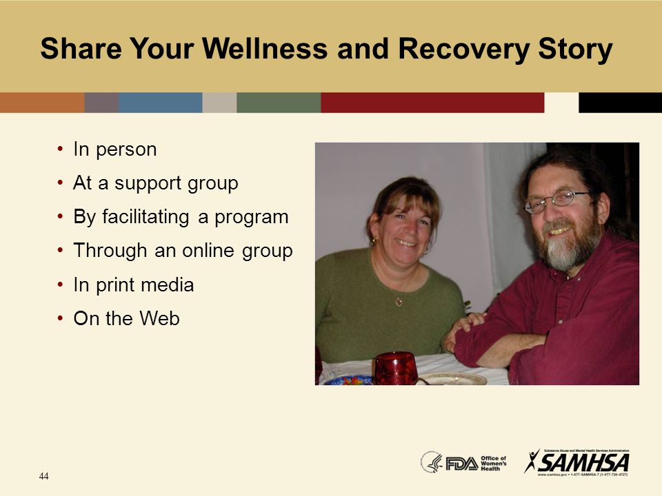 Share Your Wellness and Recovery Story