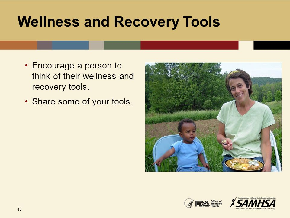 Wellness and Recovery Tools