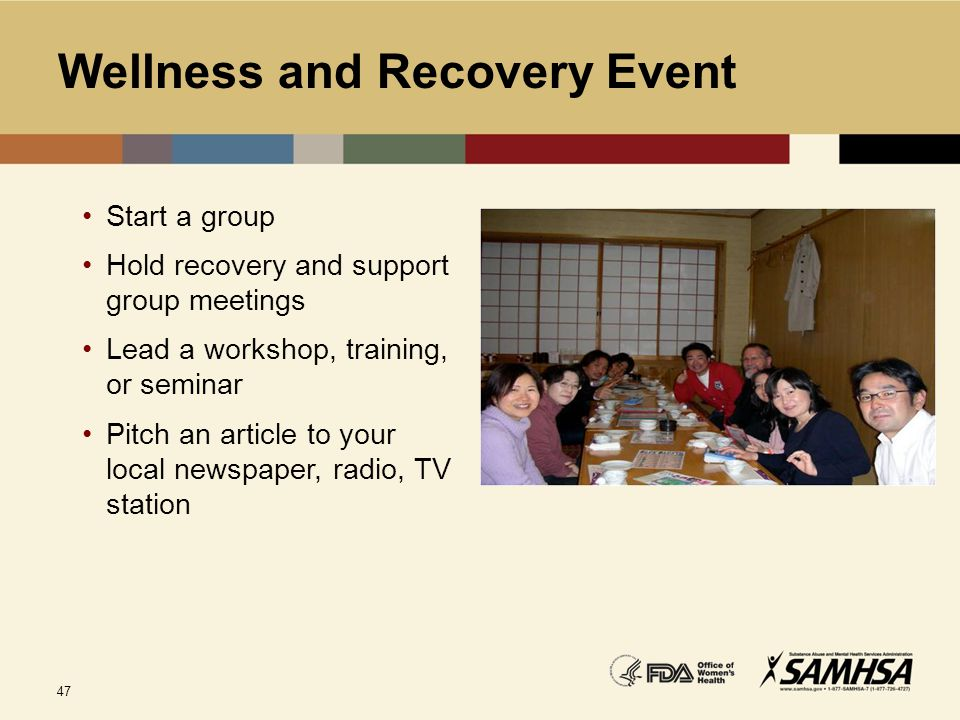 Wellness and Recovery Event