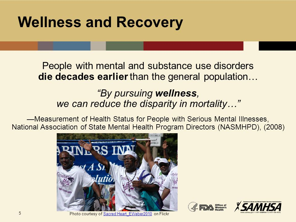 By pursuing wellness, we can reduce the disparity in mortality…