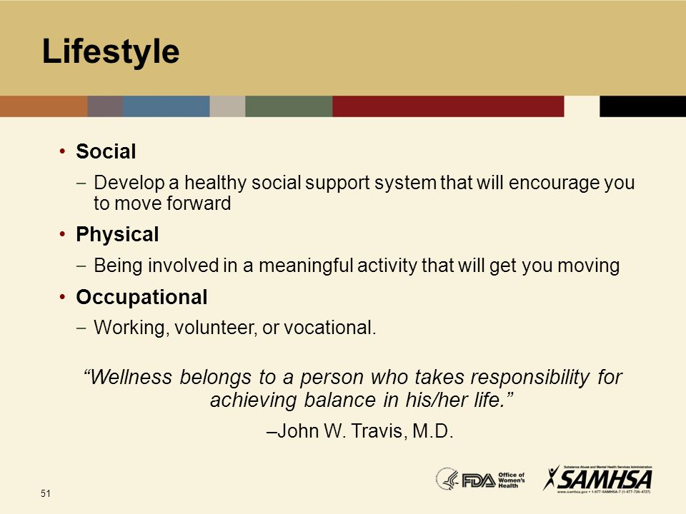 Lifestyle Social Physical Occupational