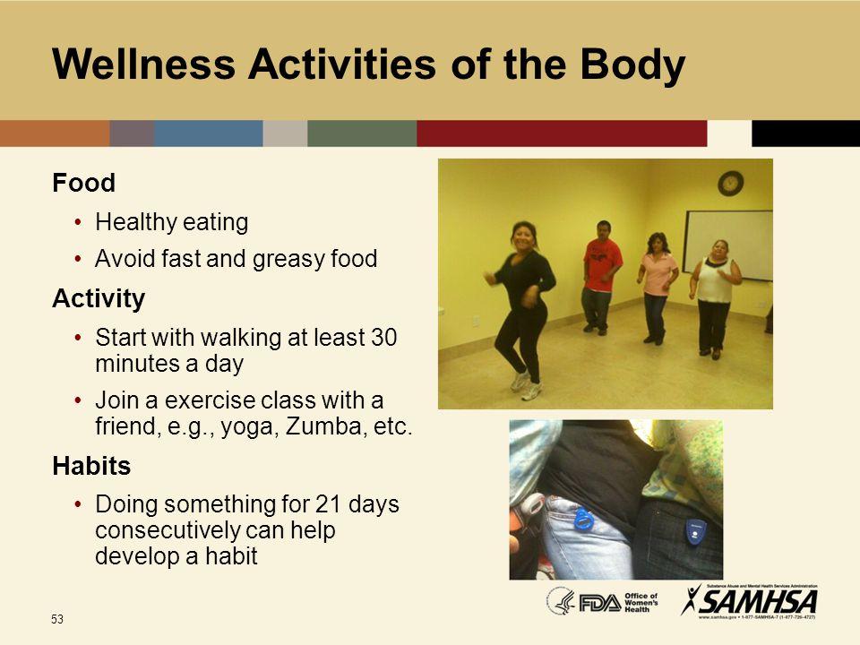 Wellness Activities of the Body