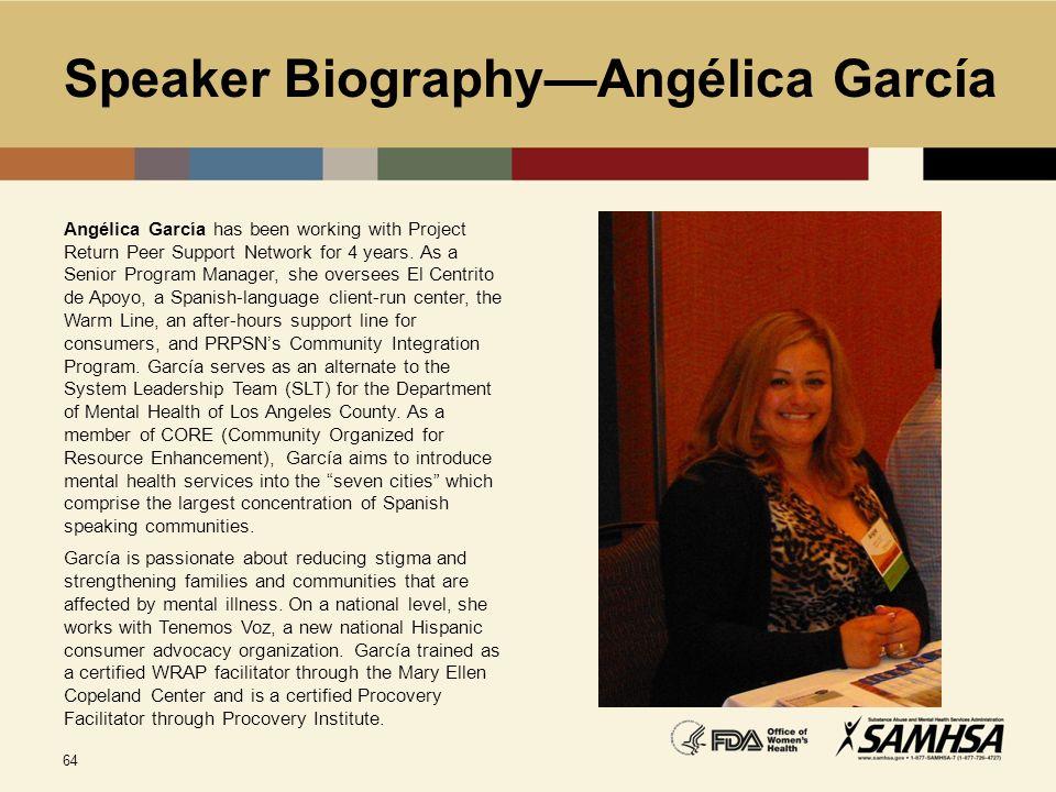Speaker Biography—Angélica García