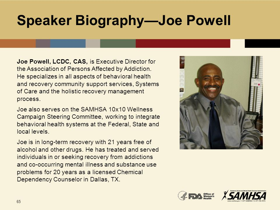 Speaker Biography—Joe Powell