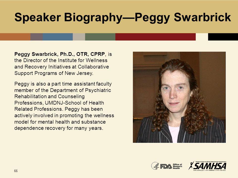 Speaker Biography—Peggy Swarbrick