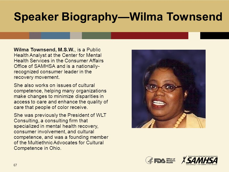 Speaker Biography—Wilma Townsend