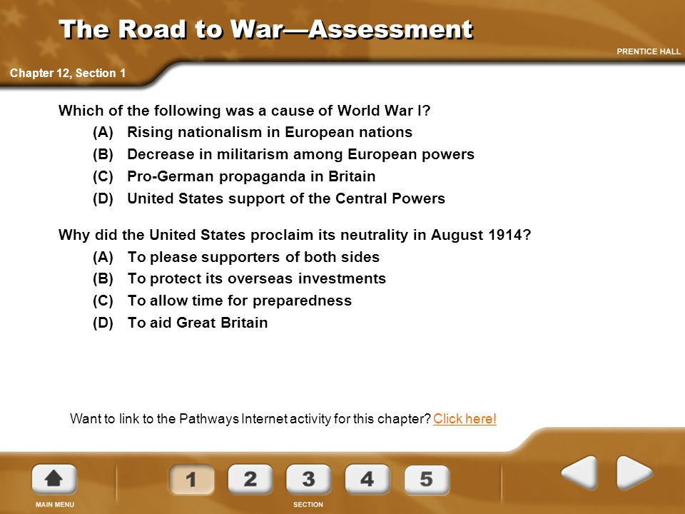 The Road to War—Assessment