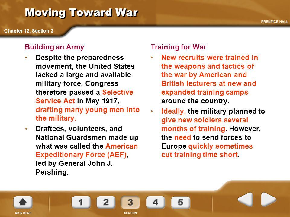 Moving Toward War Building an Army