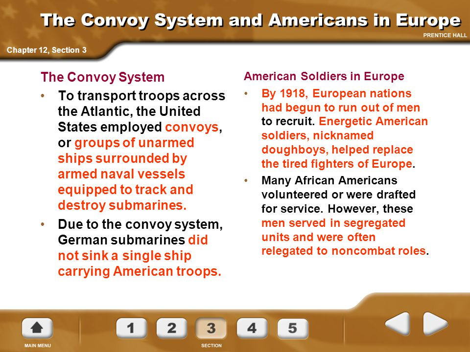 The Convoy System and Americans in Europe