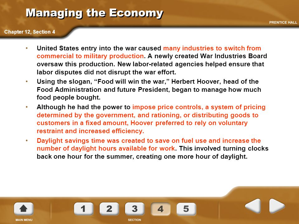 Managing the Economy Chapter 12, Section 4.