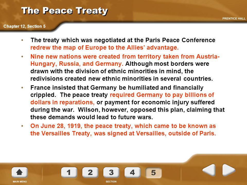 The Peace Treaty Chapter 12, Section 5.