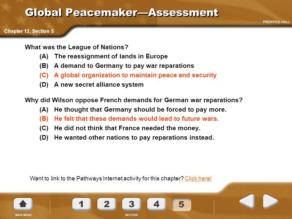 Global Peacemaker—Assessment