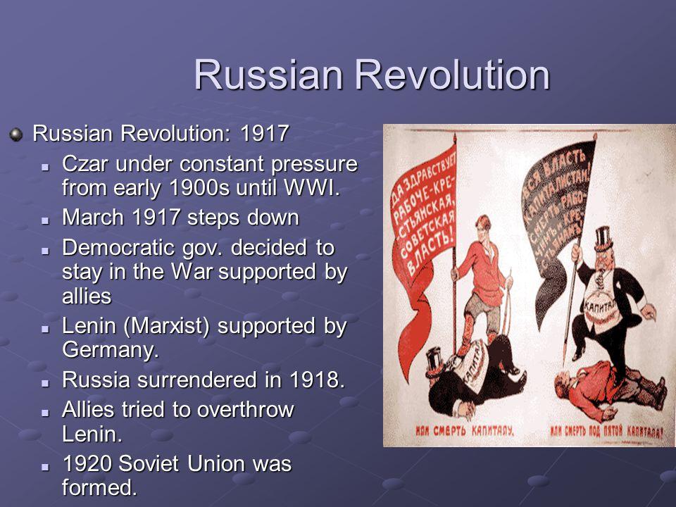 Russian Revolution Russian Revolution: 1917
