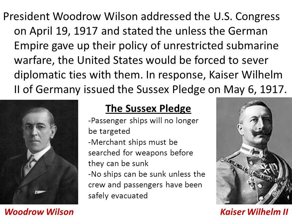 President Woodrow Wilson addressed the U. S