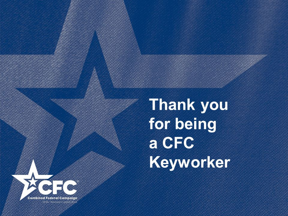 Thank you for being a CFC Keyworker