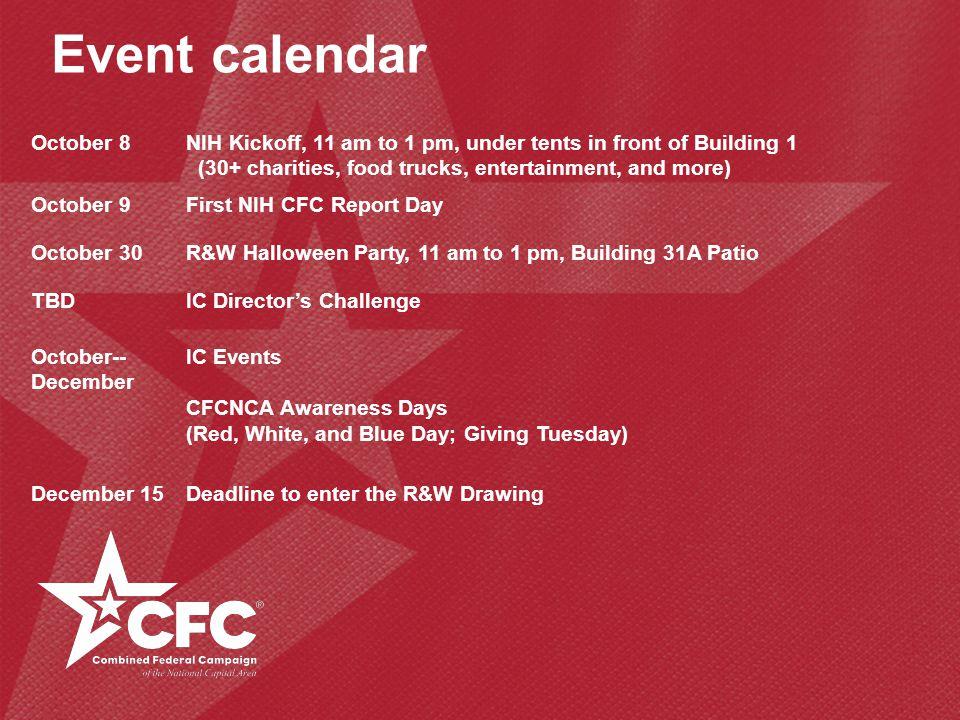 Event calendar October 8