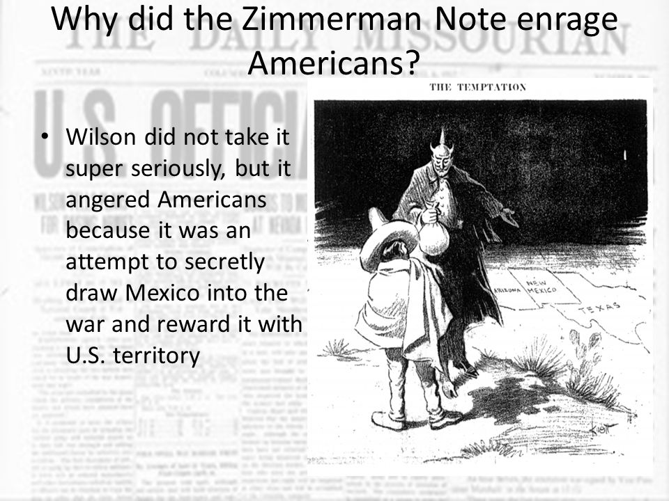 Why did the Zimmerman Note enrage Americans