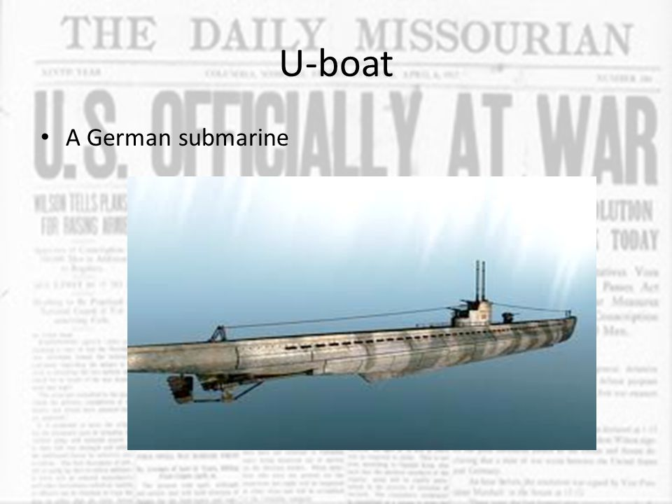 U-boat A German submarine
