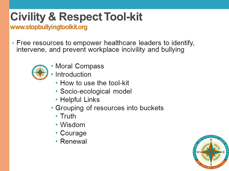 Civility & Respect Tool-kit www.stopbullyingtoolkit.org