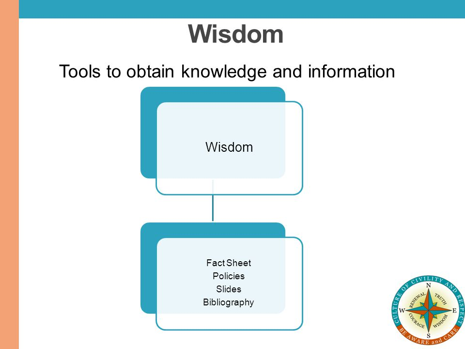 Wisdom Tools to obtain knowledge and information Wisdom Fact Sheet
