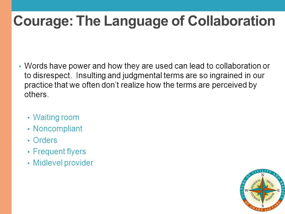 Courage: The Language of Collaboration