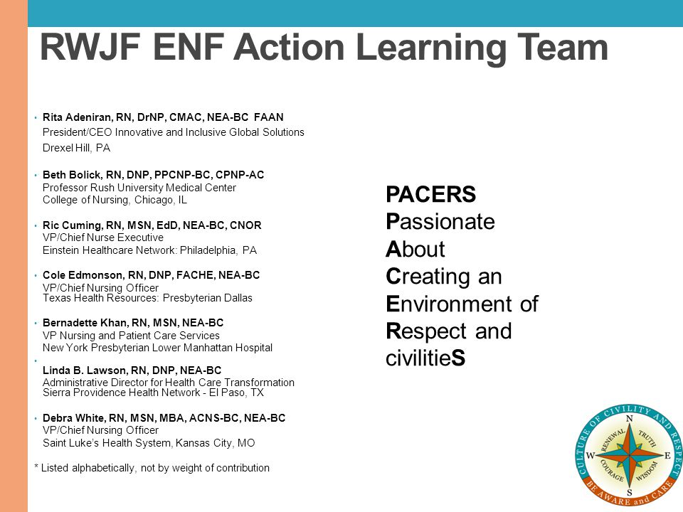 RWJF ENF Action Learning Team