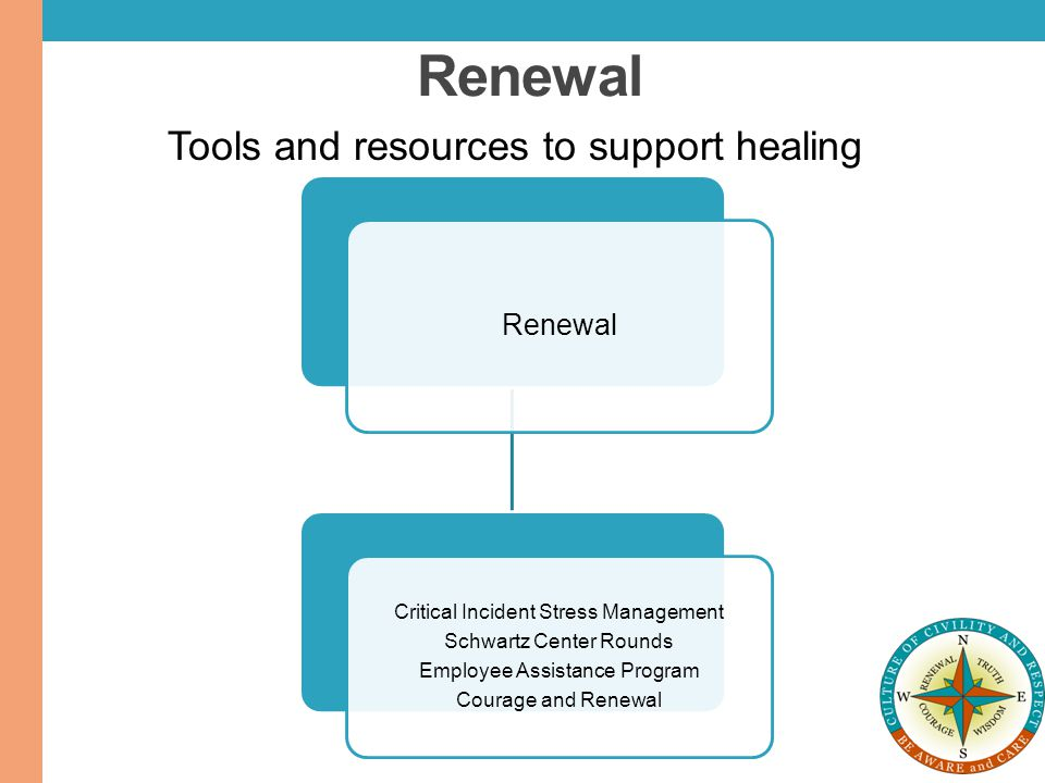 Renewal Tools and resources to support healing Renewal