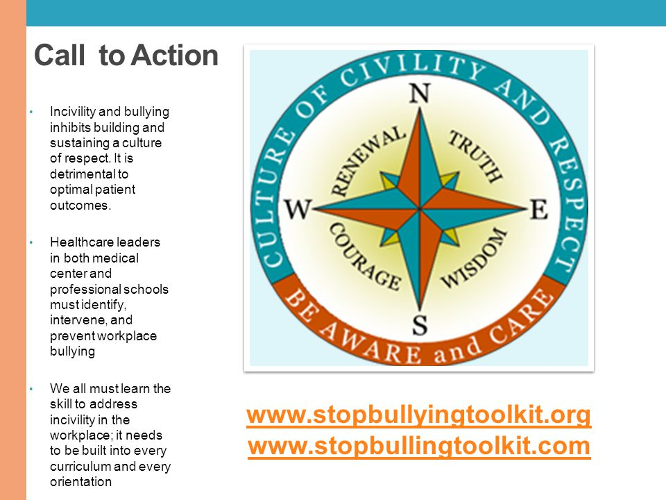 Call to Action www.stopbullyingtoolkit.org www.stopbullingtoolkit.com
