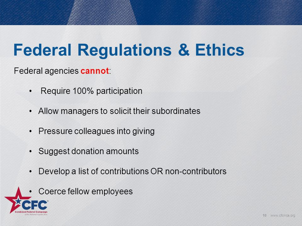 Federal Regulations & Ethics