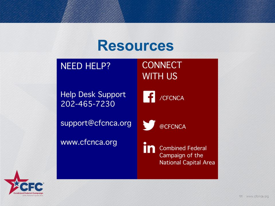 Resources www.cfcnca.org