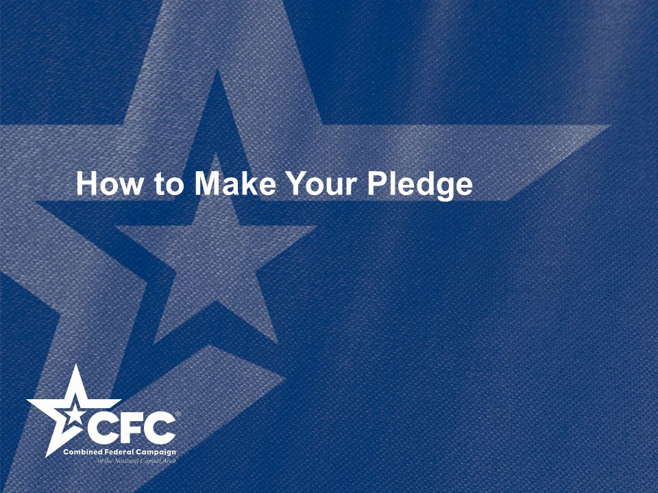 How to Make Your Pledge