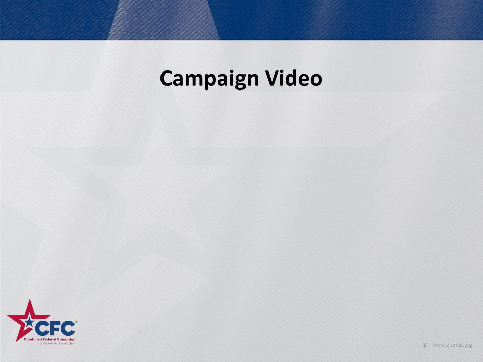 Campaign Video www.cfcnca.org