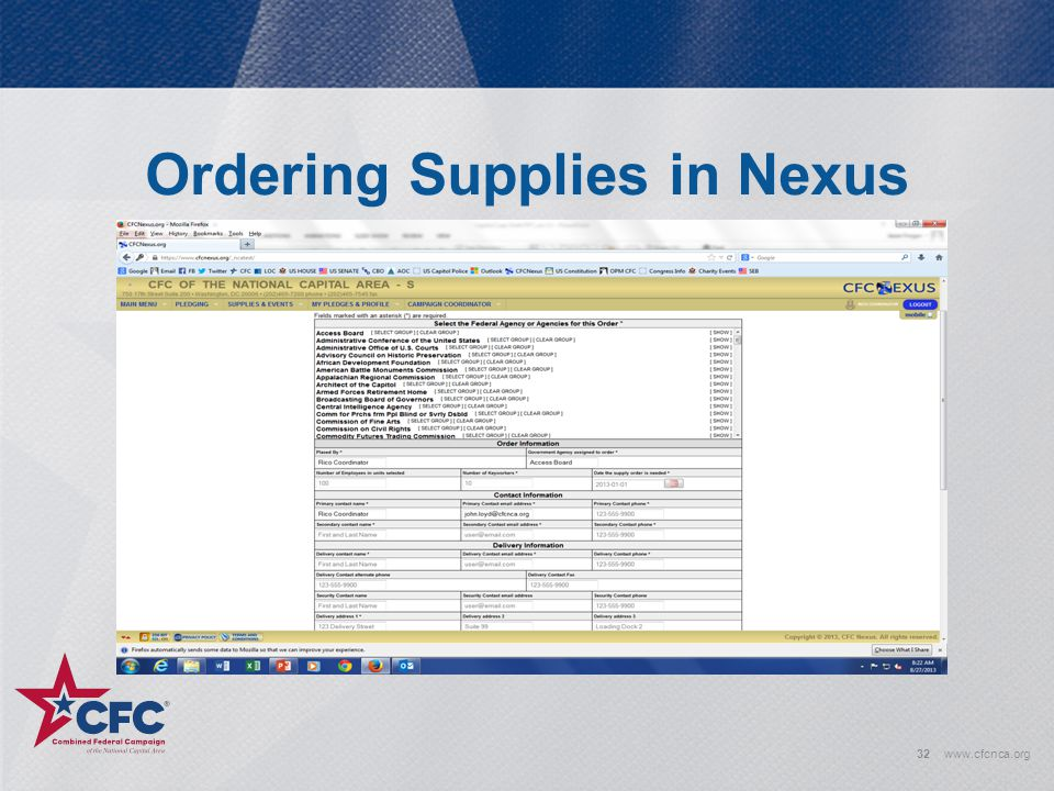 Ordering Supplies in Nexus