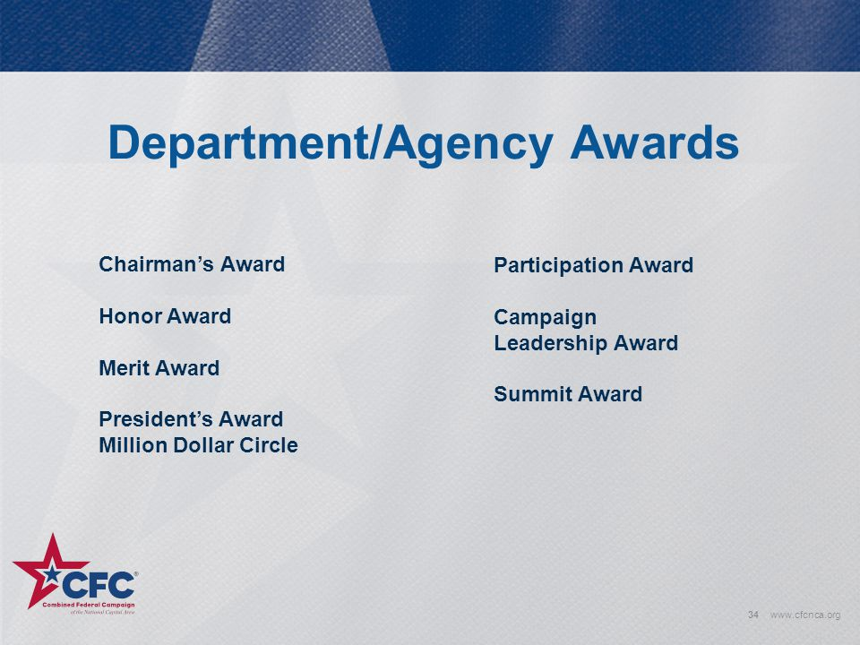 Department/Agency Awards