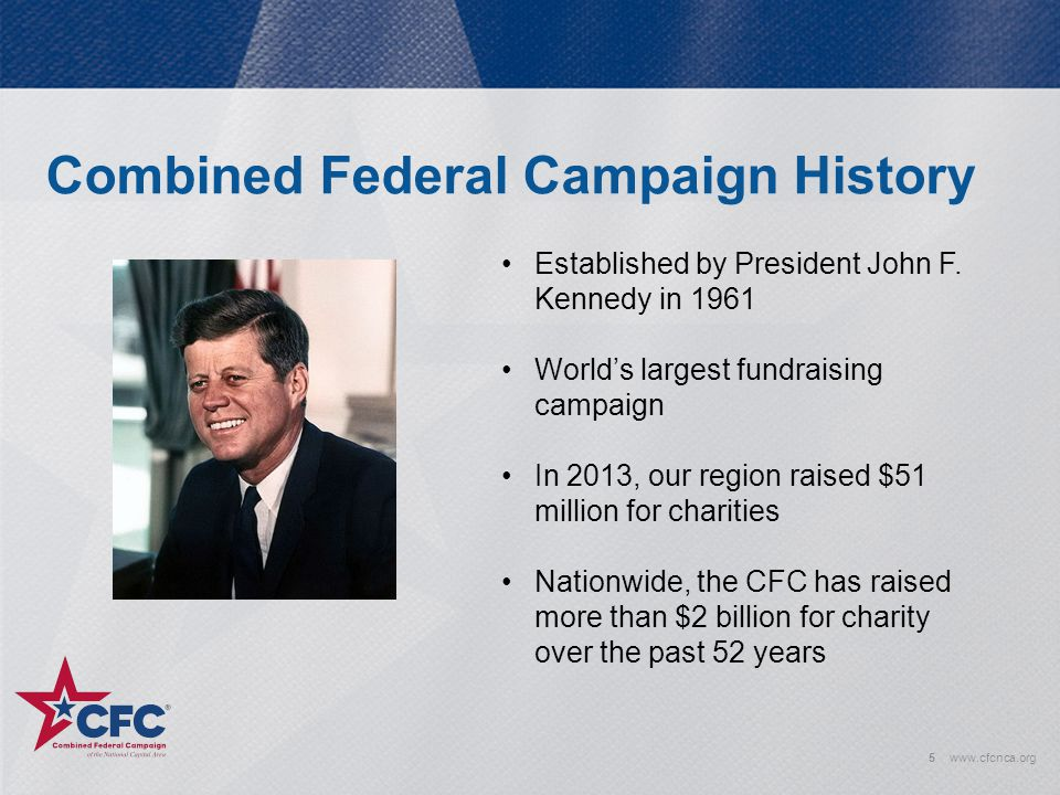 Combined Federal Campaign History