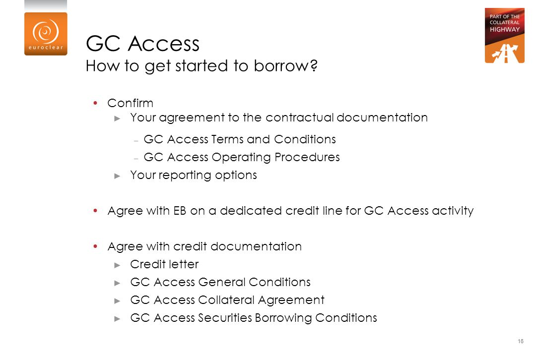 GC Access How to get started to borrow