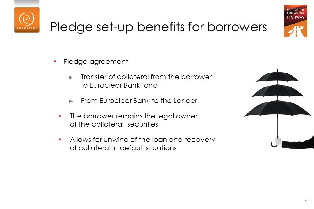 Pledge set-up benefits for borrowers