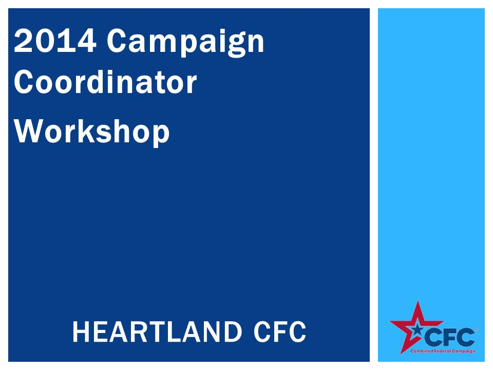 2014 Campaign Coordinator Workshop