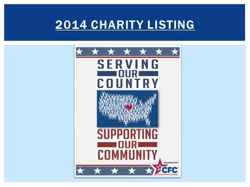 2014 Charity LISTING