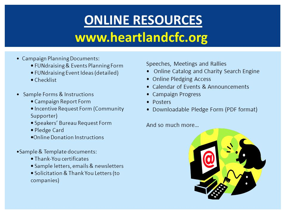 ONLINE RESOURCES www.heartlandcfc.org