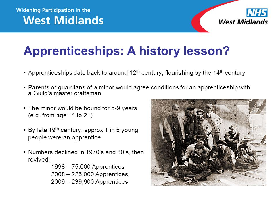 Apprenticeships: A history lesson