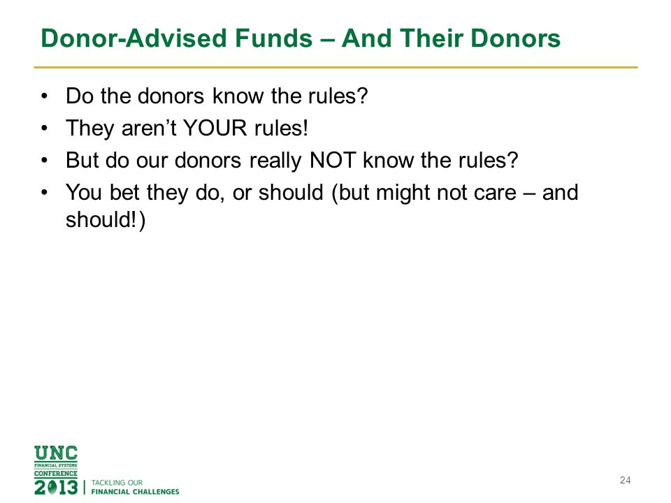 Donor-Advised Funds – And Their Donors
