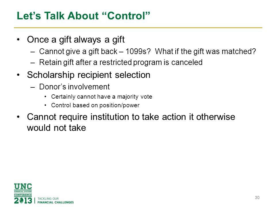 Let's Talk About Control