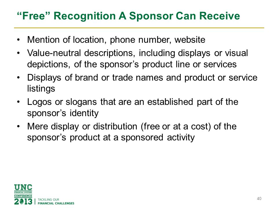 Free Recognition A Sponsor Can Receive