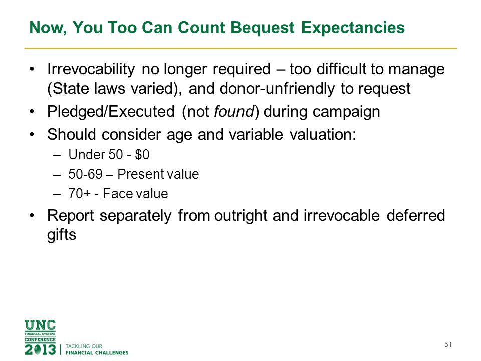 Now, You Too Can Count Bequest Expectancies
