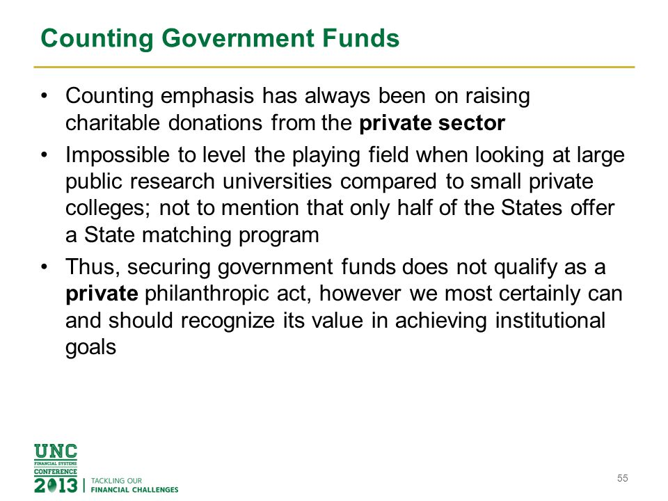 Counting Government Funds