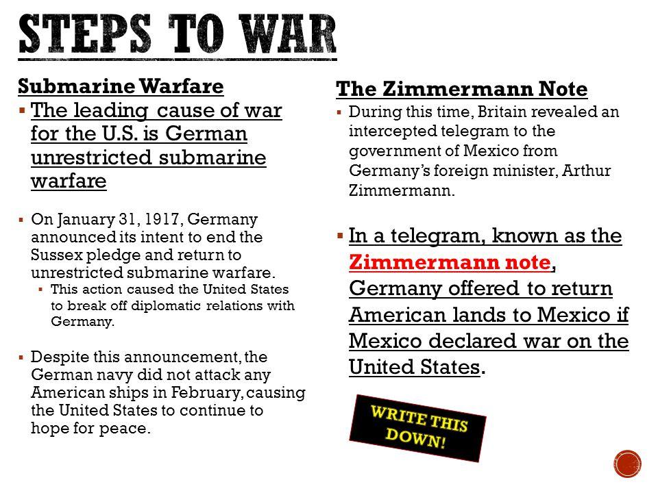 STEPS TO WAR Submarine Warfare