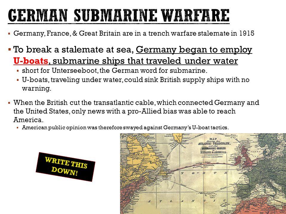 German Submarine Warfare