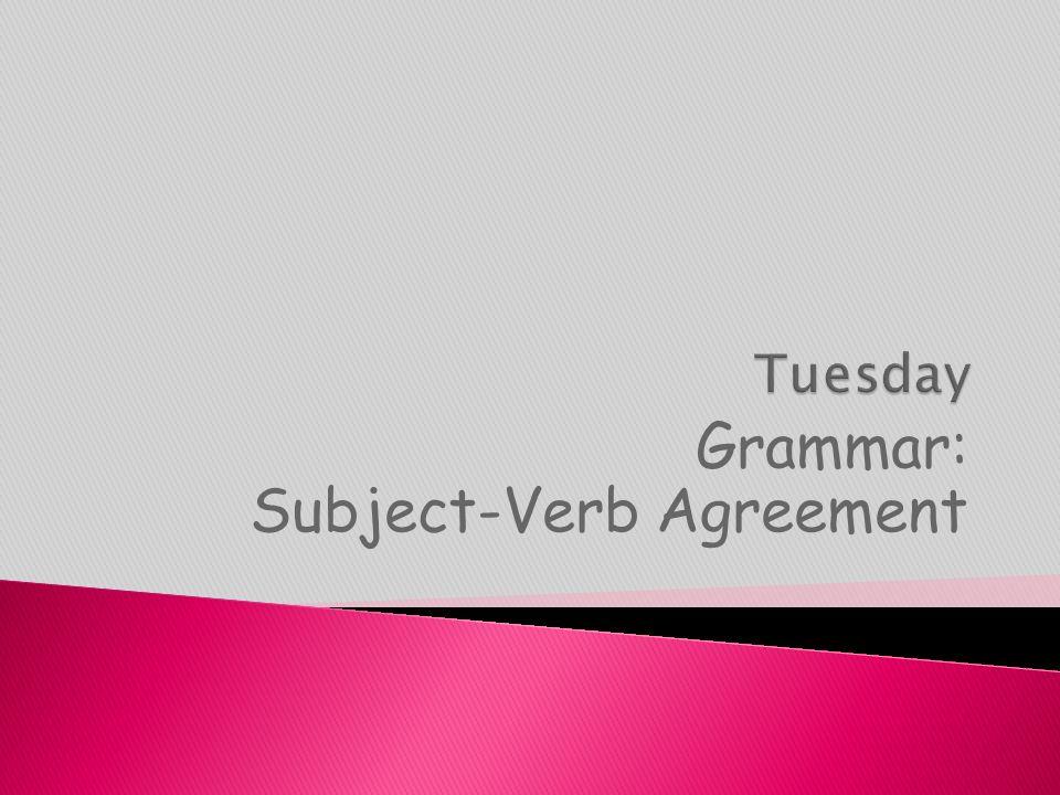 Grammar: Subject-Verb Agreement